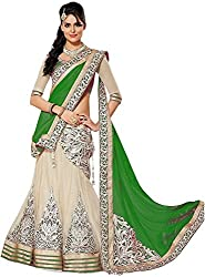 Clickedia Womens Net Lehenga Choli(Material_ Green _ Free Size)