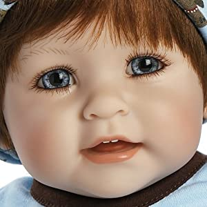 """ADORA Baby Boy 20 Inch Doll Woof Dog Patterned """"Removable & Washable Pajamas, Bib and Hoodie"""", Red Hair / Blue Eyes - Ages 6+"""