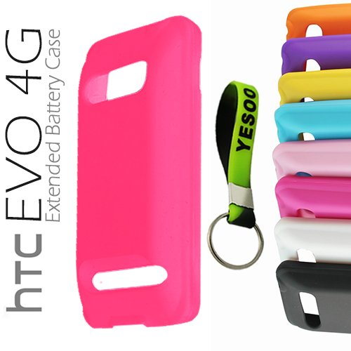 htc-evo-4g-extended-battery-silicone-case-dark-pink-exclusive-black-and-green-color-key-chain