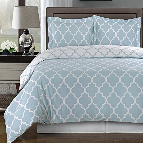 Sale!! Blue and White Meridian 3-piece King / Cal-king Comforter Cover (Duvet-Cover-Set) 100 % Egypt...