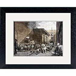 Print of 'The Hour Glass Brewery, London, 1821. Artist: J Bromley' in Black Frame