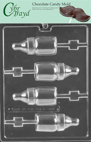 Cybrtrayd B069 Baby Bottle Lolly Baby Chocolate Candy Mold With Exclusive Copyrighted Instructions