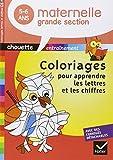 Chouette - Coloriages magiques lettres et chiffres Grande Section...