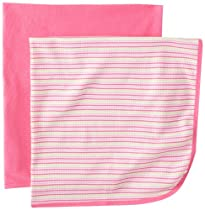 Gerber Baby-girls  2 Pack Thermal Blanket, Pink, One Size