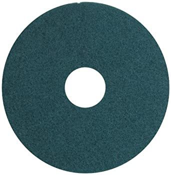 "Glit 13515 TK Polyester Blend UHS Aqua Burnishing Floor Pad, Synthetic Blend Resin, Talc Grit, 15"" Diameter, 1000 to 3000 rpm (Case of 5)"