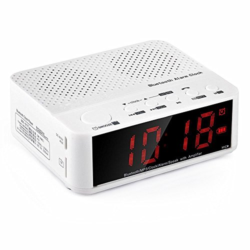 smileto new style portable mini desktop alarm clock wireless bluetooth speaker with led time. Black Bedroom Furniture Sets. Home Design Ideas
