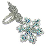 Oasis Supply Snowflake Cupcake/Cake Decorating Rings, 1 1/4-Inch, Holographic Glitter, Set of 12