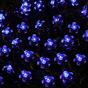 Innoo Tech 5M 50 LED Solar Blossom Decorative Fairy Lights Ideal for your patio, garden, lawn, chrismas trees, parties, weddings and other celebrations.