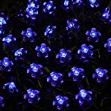 Innoo Tech Blue Led Solar Fairy Lights Christmas Outdoor String Lighting for Garden 50 Blossom Bulb Decorative Indoor Patio Lawn Xmas trees Party