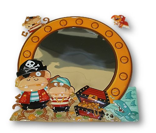 Craft Decor Puffy Mirror Pop-Ups (Pirate Monkeys)