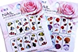 Sea Shell & Fish Nail Art Water Tattoo Sticker - 2 pack Mixed Design with Bonus
