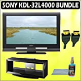 Sony Bravia L-Series KDL-32L4000 32-Inch 720p LCD HDTV & Accessory Kit Bundle with Sony SU-FL300M TV