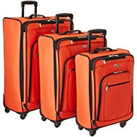 American Tourister Pop Plus 3 Piece Nested Spinner Luggage Set (Orange)