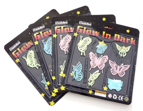 Best Butterfly Gift Of Glow In The Dark Wall Decals Stickers 4 Pack Makes The Best Gift Idea And Best Stocking Stuffer Christmas Gift Ideas Girls Kids And Teens. Guaranteed To Please. (Butterflies) front-82866