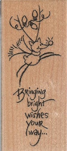 Bright Rudy Wood Mounted Rubber Stamp (N147)