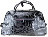 LYDC Snake Print Fashion Holdall/Weekend Bag/Trolley Bag - Black
