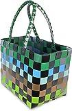 Einkaufskorb-Shopper-geflochten-aus-Kunststoff-robuster-Strandkorb-aus-wasserabweisendem-Material-Farbe-Element
