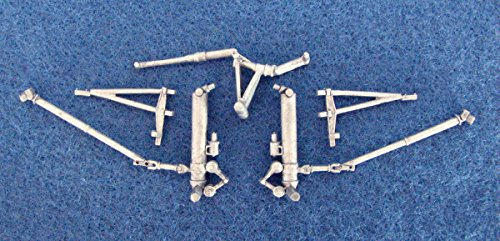 B-17G Flying Fortress White Metal Landing Gear for Revell model kits (1/72 Scale Aircraft Conversions 72029)