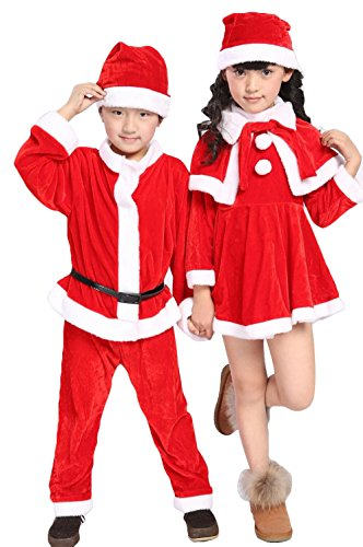 Bode Children's Christmas Halloween costume show children's wear Santa Claus clothes