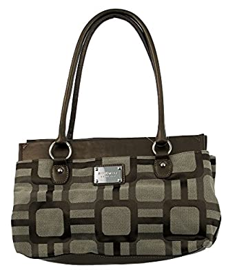 Nine West Reno Signs Ferry Large Satchel (Khaki-Natural)