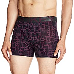 Jockey Men's Synthetic Trunks (8901326135785_IC30-0105-Potent Purple All Over Print-Small)