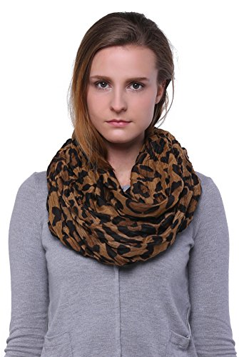Scarfand's Leopard Infinity Scarf (Brown)