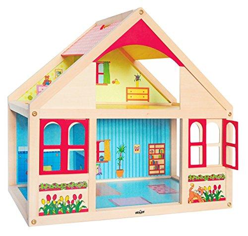 großes Puppenhaus aus Holz - Puppenstube / Wohnhaus