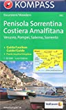 Amalfi Coast (Sorrento Peninsula, Italy) 1:50,000 Hiking Map, GPS-precise, waterproof, KOMPASS