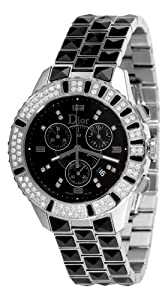 Christian Dior Unisex CD11431CM001 Christal Chronograph Diamond Black Dial Watch from Christian Dior