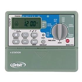 Orbit 57114 4-Station Standard Indoor Mounted Sprinkler System Control Timer