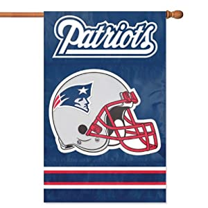 New England Patriots Applique Banner Flag by Party Animal