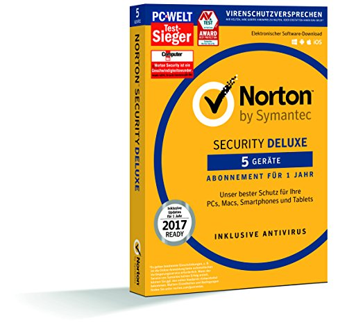 SYMANTEC Norton Security Deluxe (5 Geräte - PC, Mac,...