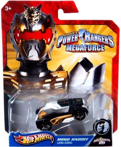 Hot Wheels Power Rangers Megaforce 1:50 Die Cast Car Robo Knight Lion Zord - 1