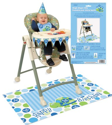 1st Birthday Turtle Party High Chair Kit
