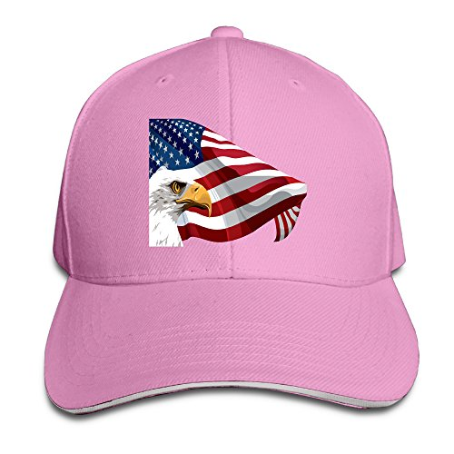 unisex-america-eagle-adjustable-snapback-baseball-cap-100cotton-pink-one-size