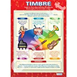 Timbre Music Educational Wall ChartPoster in laminated paper A1 850mm x 594mm