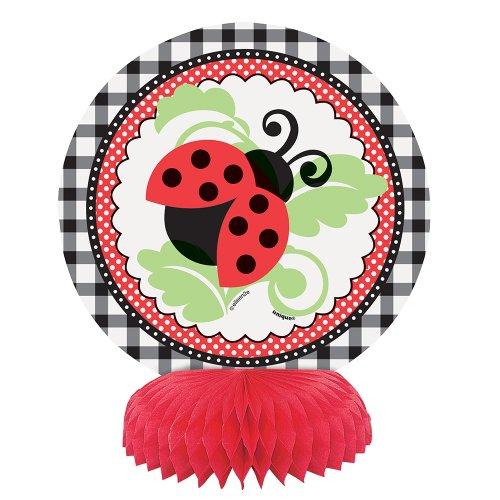 "6"" Mini Honeycomb Ladybug Decorations, 4ct"