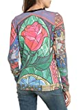 Disney Beauty And The Beast Stained Glass Girls Pullover Top 2XL