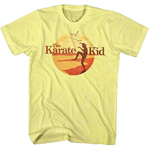 Karate Kid - Mens Sunset Kid T-Shirt, Yellow Heather - S to XXL