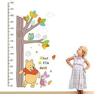 Clest F&H Winnie The Pooh la cantidad de altura Pegatina Adhesivo vinilo decorativo pared Removible habitación del bebé marca Clest F&H