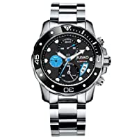 JIUSKO Deep Sea Series Men's Luxury Stainless Steel Chronograph Dive Watch 72LSB13 by JIUSKO