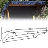 Harbo - Swing Hammock Canopy - 3 Seat - Blue - 193cm x 130cm (W x D)