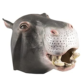HMS Jumbo Hippo Animal Mask, Grey, One Size