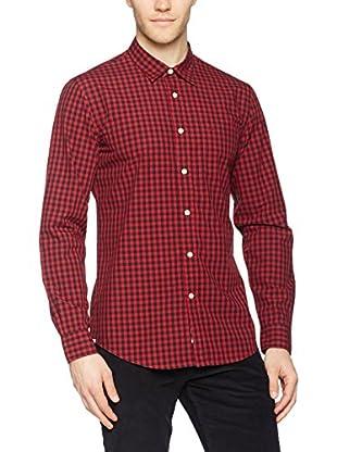 Dockers Camisa Hombre Laundered Poplin (Burdeos / Negro)