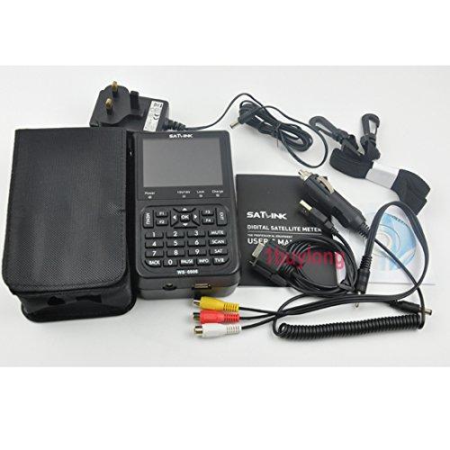 Xuuyuu (Tm) Satlink Ws-6906 3.5″ Dvb-s Data Digital Satellite Signal Finder Meter Uk Plug