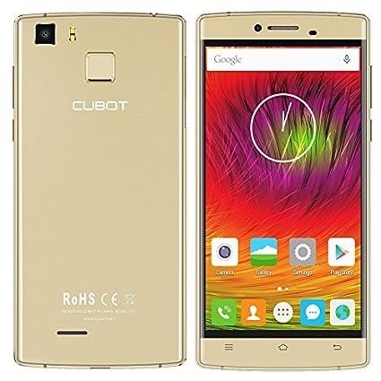"""Cubot S600 - 4G Smartphone 5.0"""" 1,3 GHz 64 bits, Quad-core Android 5.1, 2GB RAM 16G ROM, Double Caméra 8MP+16MP, Double SIM Carte , Soutien d'Empreintes Digitales"""