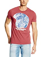 Desigual Camiseta Manga Corta Ignacio (Rojo)