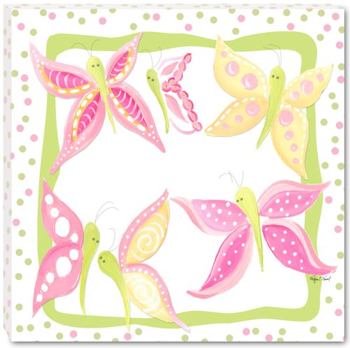 "Doodlefish Gallery-Wrapped 18""x18"" Wall Art, Butterfly Garden"