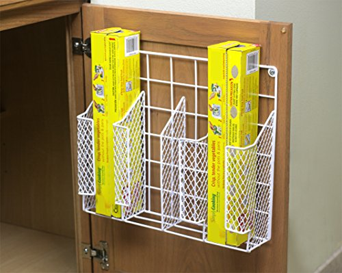 kitchen wrap organizer storage foil shelf rack wall mount