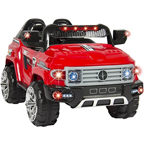 Best-Choice-Products-12V-Kids-Ride-On-Truck-Car-W-Remote-Control-2-Speeds-LED-Lights-MP3-AUX-Cord-Red